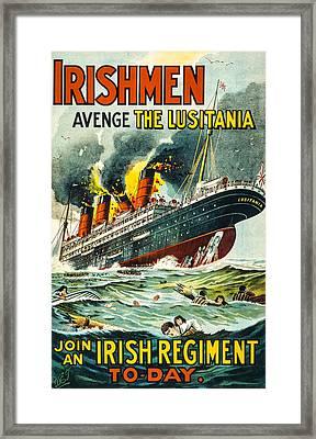 Irishman Avenge The Lusitiania Framed Print
