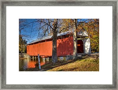Irishman Covered Bridge Framed Print by Jack R Perry