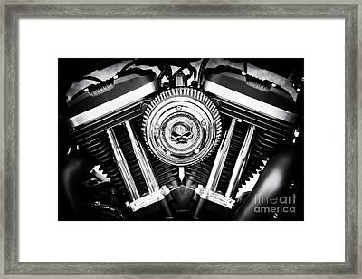 Iron 883 Skull Framed Print by Tim Gainey