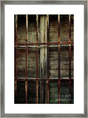 Iron Bars Framed Print by Mythja Photography