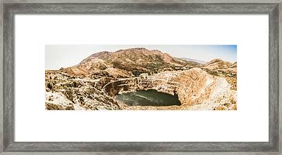 Iron Blow Lookout, West Coast Tasmania Framed Print