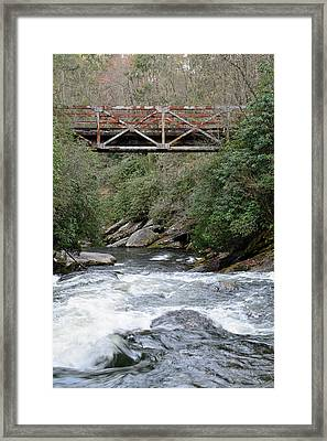 Iron Bridge Over Chattooga River Framed Print by Bruce Gourley