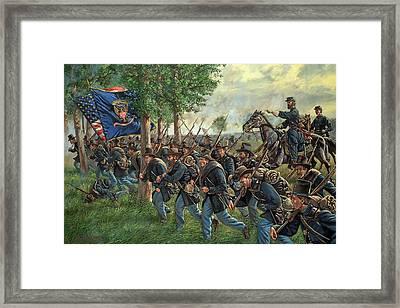 Iron Brigade Forward Framed Print