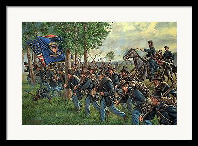 2nd Brigade Paintings Framed Prints