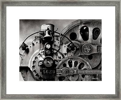 Iron Circles No. 1 Framed Print by Joe Bonita