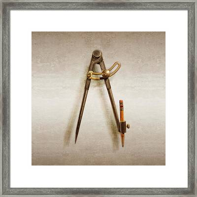 Iron Compass Framed Print by YoPedro