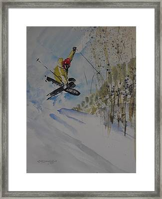 Framed Print featuring the painting Iron Cross At Beaver Creek by Sandra Strohschein