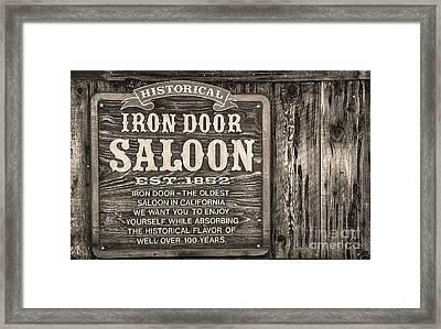 Iron Door Saloon 1852 Framed Print