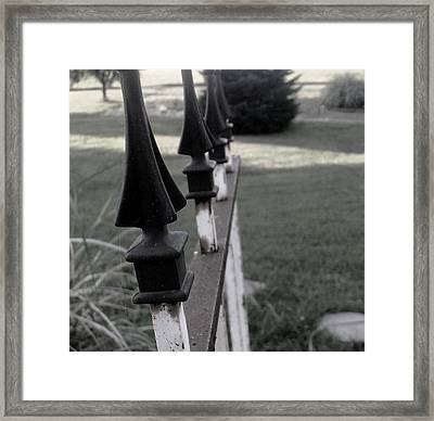 Iron Fence Framed Print by Ali Dover