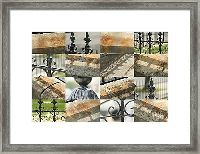 Iron Fence Framed Print