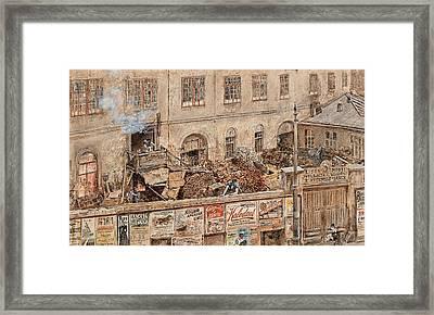 Iron Foundry Kitschelt In Skodagasse Framed Print
