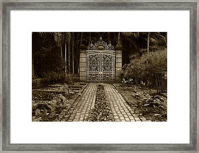 Iron Gate Framed Print by Amarildo Correa