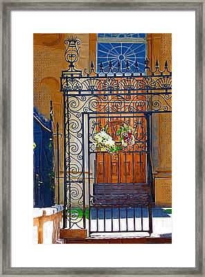 Framed Print featuring the photograph Iron Gate by Donna Bentley