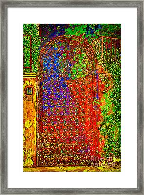 Iron Gate In Hollywood Framed Print by Mariola Bitner