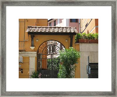 Iron Gate Framed Print by Sue Ann Rybarczyk