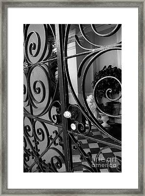 Iron Gate Framed Print by Wendy Mogul