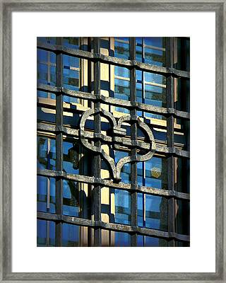 Iron Heart Framed Print by Lori Seaman