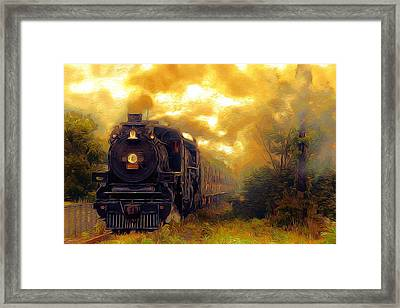 Framed Print featuring the photograph Iron Horse by Aaron Berg