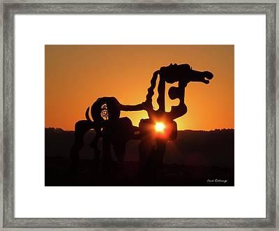 Iron Horse Heart Warming Framed Print by Reid Callaway