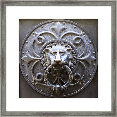 Iron Lion Framed Print