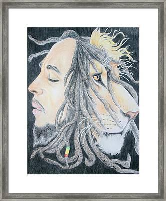 Iron Lion Zion Framed Print