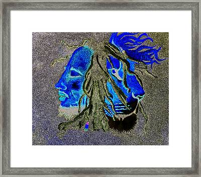 Iron. Lion. Zion. Framed Print by Kayon Cox