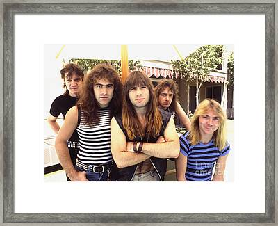 Iron Maiden 1983 Framed Print by Chris Walter