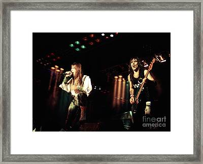 Iron Maiden 1987 Bruce And Steve Framed Print by Chris Walter