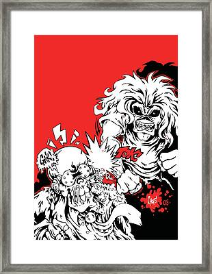Iron Maiden Vs Megadeth Framed Print by Caio Caldas