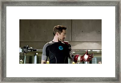Iron Man 3 Framed Print by Paul Tagliamonte