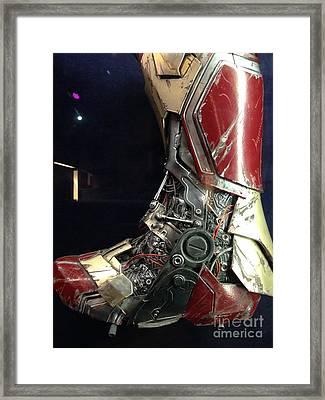 Iron Man Boot Framed Print by Micah May