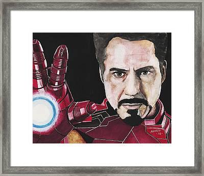 Iron Man Framed Print by Edwin Alverio