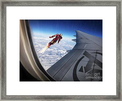 Iron Man Framed Print by Jonas Luis