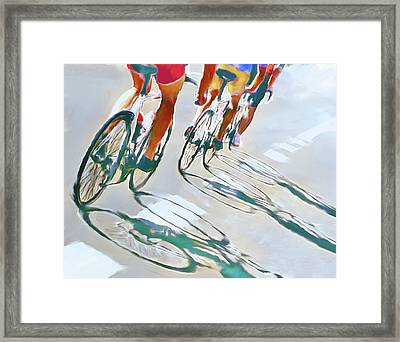 Iron Man Triathlon Framed Print