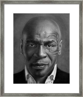 Iron Mike Tyson Drawing Framed Print