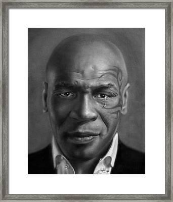 Iron Mike Tyson Drawing Framed Print by John Harding