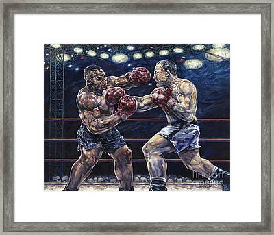 Iron Mike Vs. Rocky Framed Print by Dennis Goff