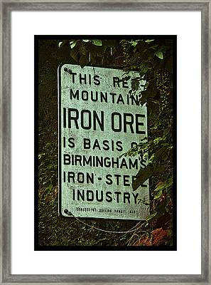 Iron Ore Seam Poster Framed Print