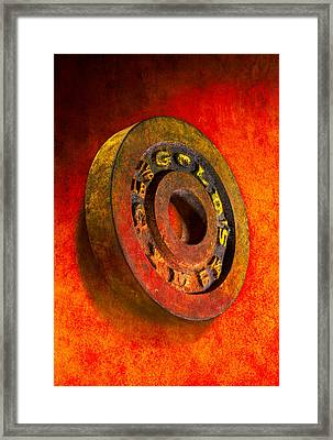 Iron Plate Framed Print by YoPedro