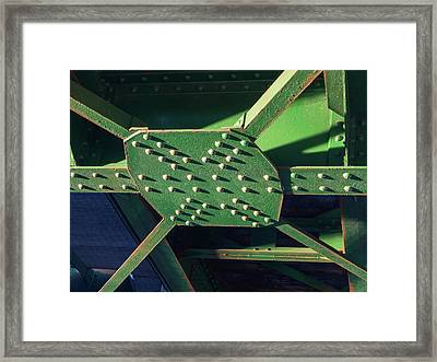 Iron Rail Bridge Framed Print