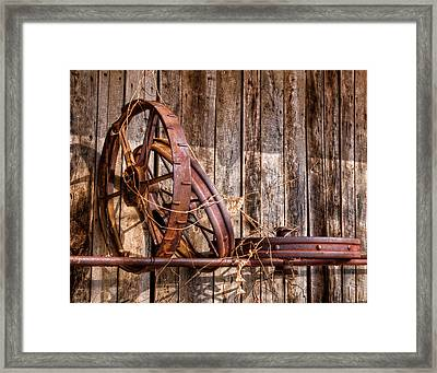 Iron Framed Print by Ron  McGinnis
