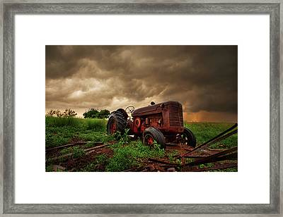 Iron Sky Framed Print by Thomas Zimmerman