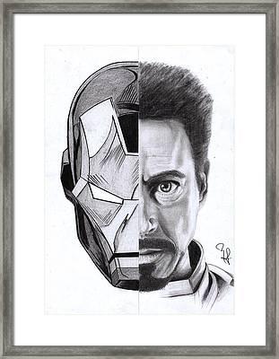 Iron Stark Framed Print by Yf Jarosova