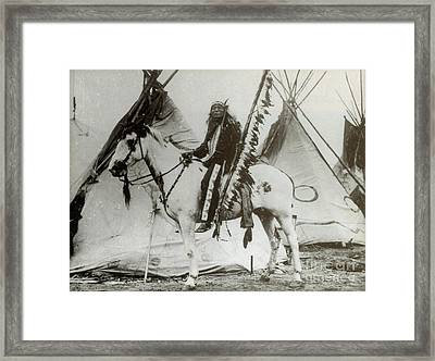 Iron Tail Sioux Chief Early 1900s Framed Print