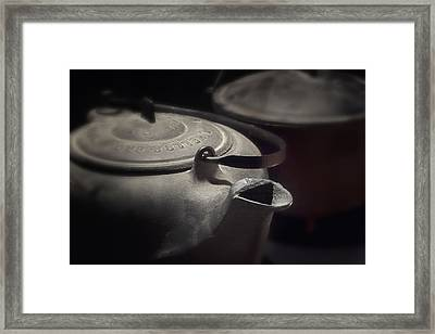 Iron Framed Print by Tom Mc Nemar