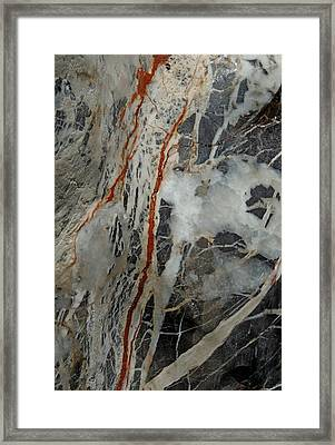 Iron Veins. Framed Print