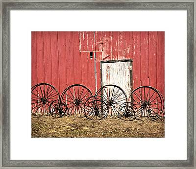 Iron Wheels Framed Print by Kathy M Krause