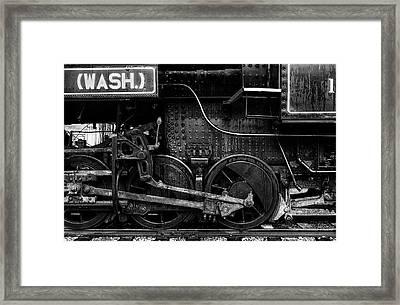 Iron Wheels Framed Print