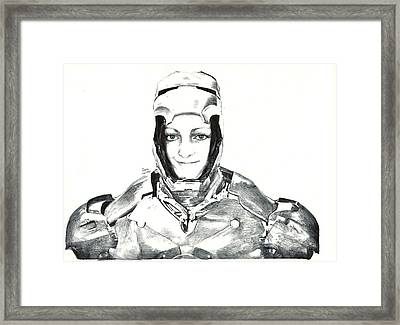 Iron Woman Framed Print by Benjamin McDaniel