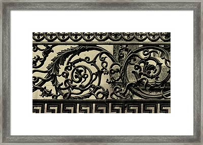 Iron Work Framed Print by JAMART Photography